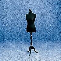 Maniquí Busto Maniquí Mujer Base trípode de madera negro poliestireno Veste negro Modista Costura Costura