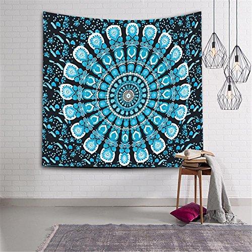 PLZY Polyester 3D Drucken Tapisserie zum Zuhause Leben Zimmer Schlafzimmer Hotel Dekor, Mehrfachauswahl, Mandala Bohemien Stil, 2 -
