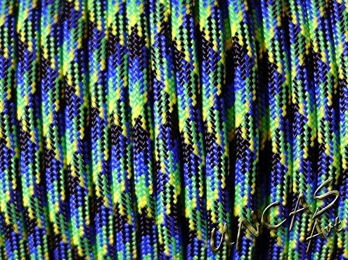 Original bracelet en paracorde 550 tYPE 3–30 m corde couleur aquatica lizzard bleu vert