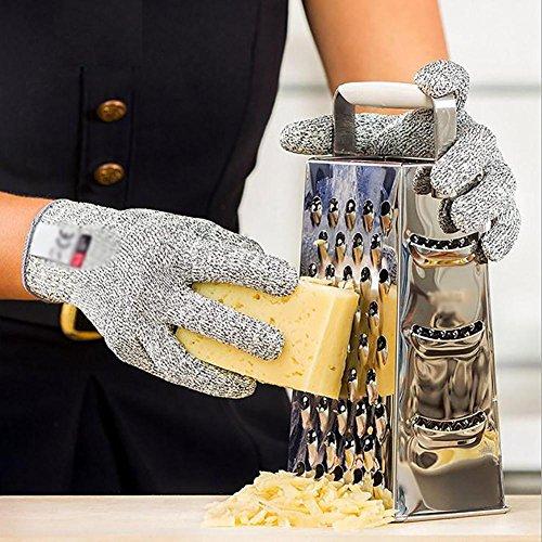 JZDCSCDNS Schnittfeste Handschuhe Anti-Kratz Anti-Zerreißen Verschleißfest Handschutz Küche Metall Auto Schneidejob Elastische...