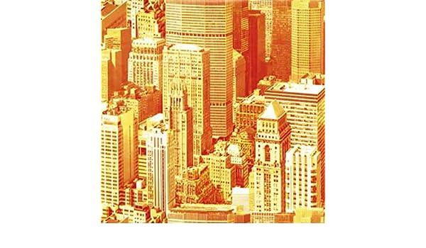Klebefolie Möbelfolie Wolkenkratzer orange 45 cm x 200 cm Dekorfolie Bastelfolie
