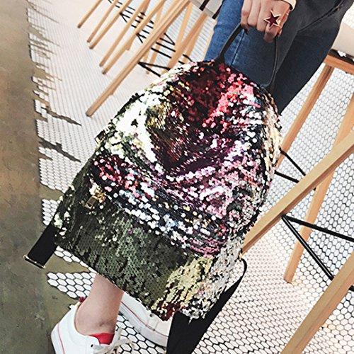 LAHAUTE Sequined Sterns Rucksack kreative Persönlichkeit kleine Rucksack Mädchen Umhängetasche Mode-Tasche Geld