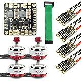 BGNing Mini RC Racing Drone Brushless Motor ESC Combo 4X EMAX RS2306 2400KV & Mini ESC BLHeli-s 30A + Mini Energieverteiler (2400KV Motor+Hobbywing XRotor 30A)