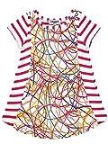 Junior Gaultier Kleid Viskose Elastane gestreift rosa Himbeere Baby Mädchen Gr. 6 Monate, Bedruckt
