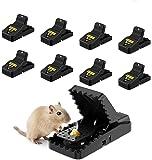 Awroutdoor 8 PCS Piège à Souris, Réutilisable Piège à Rats avec Ressort Puissant et Sensible Contrôle Our Intérieur…