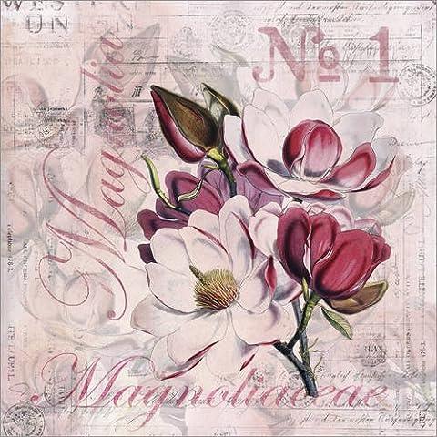 Impresión en madera 20 x 20 cm: Magnolia de Andrea Haase