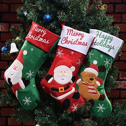 Ecent Weihnachtsstrumpf Socke hängen Weihnachten Dekoration