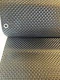 Smart Deko 78904 Silber&Anthrazit 8x0,9m Polyrattan Sichtschutz, Balkonsichtschutz, Windschutz, Balkonblende, Garten Sichtschutz, (Silber&Anthrazit)) (800x90cm)