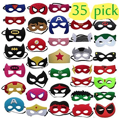 Pack Kinder Kinder Erwachsene Party Maskerade / Superhelden Maskerade Cosplay / Super Masken / Super Hero Cosplay Partei Augenmasken Filz Masken ()