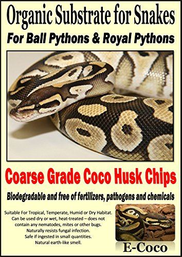 Python Snake Bedding for Larger Snakes - Substrate for Ball Pythons & Royal Pythons - COARSE Grade - Ready to USE (1… 1
