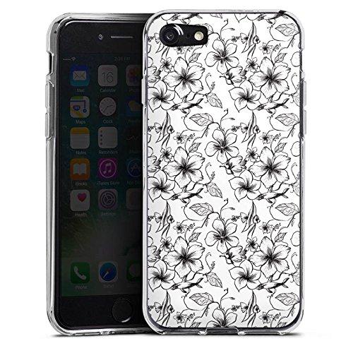 Apple iPhone X Silikon Hülle Case Schutzhülle Blumen Vintage Muster Silikon Case transparent