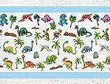 I-love-Wandtattoo Kinderzimmer Bordüre Borte Dinosaurier Tiermotiv selbstklebend Tapetenstreifen