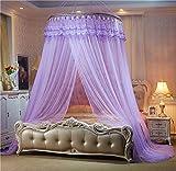 Alrededor de la pantalla de la mosca,Cama princess con dosel mantiene ausentes insectos y mosquitos moscas repelente red para camas,Cama colgante mosquito net cúpula de mosquitera techo hermoso estante rojo grande-K King