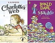 Charlotte's Web (A Puffin Book) + Matilda(Set of 2 Bo