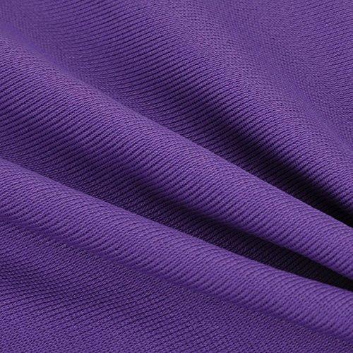 SYROKAN Women's High Impact Support Bounce Control Plus Size Run Sports Bra Violet blue 40 F