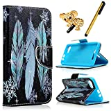 MAXFE.CO Lederhülle Leder Tasche Case Cover für Wiko