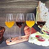 Weingläser plastik ThreeCat unzerbrechliche weingläser 100% Tritan Bruchsicher weinglas aus kunststoff Transparent wie echtes Gläser BPA-frei,12.5OZ (355ml),4er Set - 3