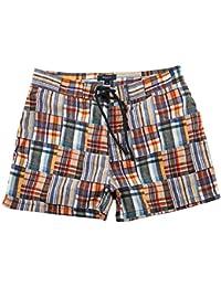 Gant Hommes Maillot de bain Bleu/Blanc/Orange M.M. Patchwork Surf Shorts 20054-423