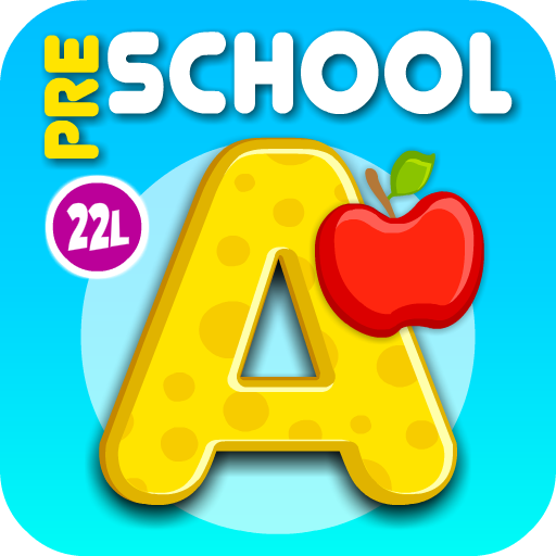 Preschool All-In-One Learning - Bubble School Adventure Basic Skills A to Z: Learn to Read and Count with Animals and 220 Interactive Flash Cards – Educational Toy for Baby, Toddler & Kindergarten Explorers by Abby Monkey® Games for Kids