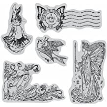 """Graphic 45 Cling Stamps 4.5""""X4.5"""" Sheet-Once Upon A Springtime #2"""
