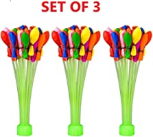 Jiada Automatic Fill and Tie Magic Water Balloons for Holi - Multicolour (Pack of 3 (111 Balloons)