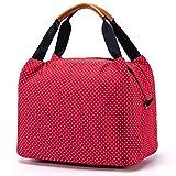 CALIYO Lunchtasche Kühltasche klein Isoliertasche wassedicht Lunchbag mit Reißverschluss Thermotasche faltbar für Arbeit, Schule und unterwegs 9 Liter (Rot)