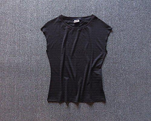 ZHUDJ Le Code De L'Habillement De Yoga À Manches Courtes T-Shirt T-Shirt Femme Respirant Séchage Lâche La Vitesse De Course De Sport Soutien-Gorge De Sport Base black