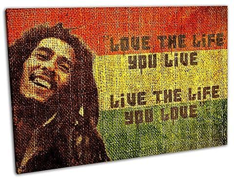 Bob Marley, Format: 100x70, Leinwandbild Made in Germany ! Super Qualität in 4 verschiedenen Größen, Kunstdruck auf Echtholzrahmen gespannt mit Zackenaufhänger. Komplett bespannt zum sofort aufhängen. Wandbild kein Plakat oder