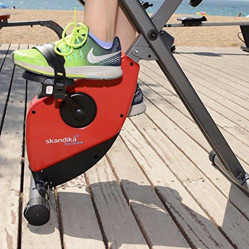 skandika Foldaway X-1000 Fitnessbike Heimtrainer klappbar mit Handpuls-Sensoren, 8-stufiger Magnetwiderstand, LCD Display ohne Rückenlehne - 9