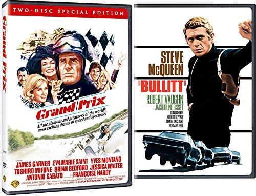 Race Action Double Feature Collection Bullitt + Grand Prix 2-DVD Bundle Steve McQueen James Garner