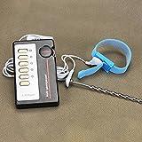 Genmine® URETHRAL Stecker Elektrischer Penis Plug mit Penisring Set Harnröhren plug Elektrostimulation Dilator aus Edelstahl mit Fernbedienung für Männer