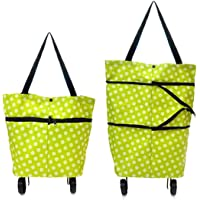 Natvar creation Foldable Shopping Trolley Bag with Wheels Folding Travel Luggage Bag/Vegetable, Grocery, Shopping…