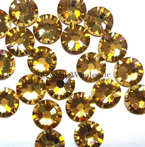 144 Swarovski 2028 / 2038 16ss HOTFIX crystal flatbacks ss16 LIGHT COLORADO TOPAZ A HF