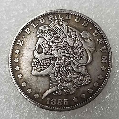 YunBest Best Morgan Silber-Dollars - Hobo Nickel Münze - 1885 Münze zum Sammeln - Silber-Dollar USA Old Morgan Dollar BestShop -
