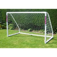 ddbfdbf02 Samba Pair of 24x8ft Striped Continental Nets for Goals with Back Supports  Samba Sports Training ...