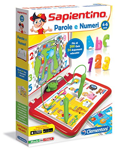 Sapientino Clementoni - 13525 Parlante interactive game [Italian Version] Words and numbers