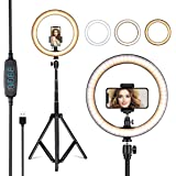 """COROID 10"""" Inches Big LED Ring Light for Photo and Video with 9 Feet Stand Compatible with Camera and Smartphones for TIK-tok"""
