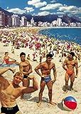 Ragazzi sulla spiaggia biglietto d'auguri di Max Hernn