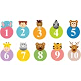 Asmi Collections Wall Stickers Cute Animals with Numbers for Kids Room