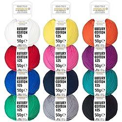 100% algodón mercerizado con mezcla de colores hilo Macramé
