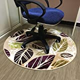 HAOJUN *Bereich Teppich Runde Teppich, Computer Stuhl Decke Schlafzimmer Studie Regal Trommel Teppich Yoga Praxis Tanzmatte Teppich (Farbe : #3, größe : Round100cm)
