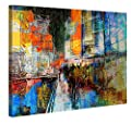 Canvas Print Wall Art - 7th Avenue - Stretched Canvas Framed On A Wooden Frame - Contemporary Art Canvas Printing - Hanging Wall Deco Picture By Gallery Of Innovative Art