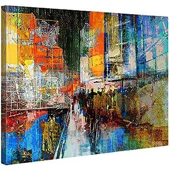 Premium Kunstdruck Wand Bild U2013 7th Avenue U2013 100x75cm Leinwand Druck In  Deutscher Marken Qualität U2013 Leinwand Bilder Auf Holz Keilrahmen Als Moderne  ...