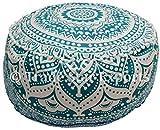 indien Ombre Housse de pouf couverture, Mandala Ottoman Repose-pieds, couverture de pouf, rond décoratif ottomano Housse de coussin, bohème hippie décoration de maison