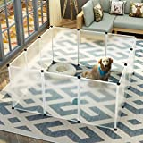 Koossy Expandable Small Animals plastic Playpen Cage Kennel for Bunny Guinea Pig Rabbit