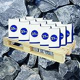 Halbe Palette Gabionen Steine Basaltbruch Anthrazit 20-40 mm 20x25 kg Sack