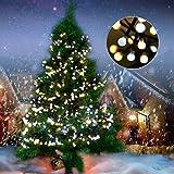 Lichterkette 400 LEDs Kugeln Deko Licht von Colleer, 3M 8 Modi LED lichterkette String Licht, Innen-Außen Deko für Weihnachten Hochzeit Party Weihnachtsbaum