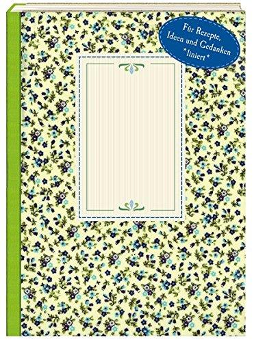 NoteBook - Wachstuch Blaue Blümchen (Notebook Kid)