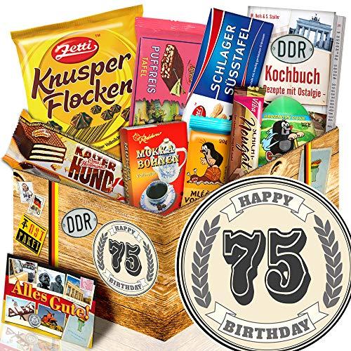 Geschenk zum 75. | Geschenk Schokolade Geburtstag | 75 Geburtstag Geschenke
