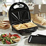 from Cooks Professional Sandwich Toaster Panini Maker Press Grill, 2-in-1 Toastie Iron with Non Stick Removable Plates, 750W by Cooks Professional (Sandwich Toaster) Model SH46770